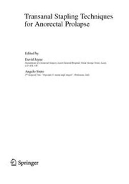 Jayne, David - Transanal Stapling Techniques for Anorectal Prolapse, e-kirja