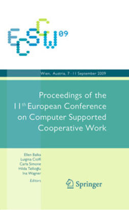 Wagner, Ina - ECSCW 2009, ebook