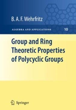 Wehrfritz, B.A.F. - Group and Ring Theoretic Properties of Polycyclic Groups, ebook
