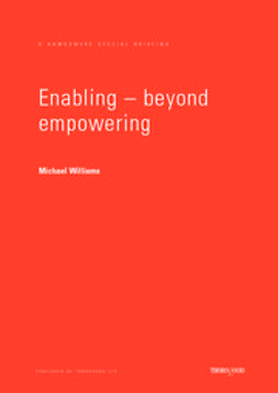 Williams, Mike - Enabling Beyond Empowerment, ebook