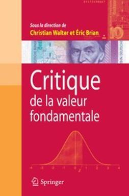 Brian, Éric - Critique de la valeur fondamentale, ebook