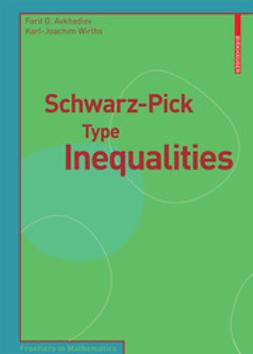 Avkhadiev, Farit G. - Schwarz-Pick Type Inequalities, ebook