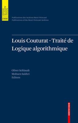 Schlaudt, Oliver - Louis Couturat -Traité de Logique algorithmique, ebook