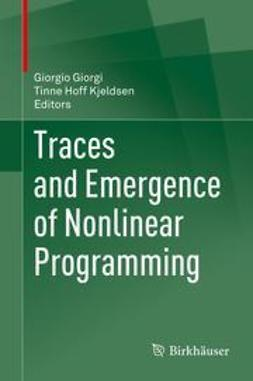 Giorgi, Giorgio - Traces and Emergence of Nonlinear Programming, ebook