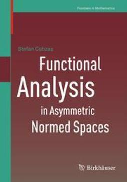 Cobzaş, Ştefan - Functional Analysis in Asymmetric Normed Spaces, ebook