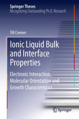 Cremer, Till - Ionic Liquid Bulk and Interface Properties, ebook