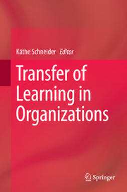 Schneider, Käthe - Transfer of Learning in Organizations, ebook