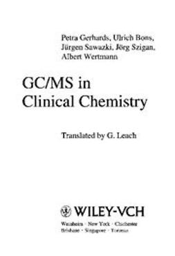 Bons, Ulrich - GC/MS in Clinical Chemistry, e-kirja