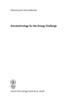 Garcia-Martinez, Javier - Nanotechnology for the Energy Challenge, ebook