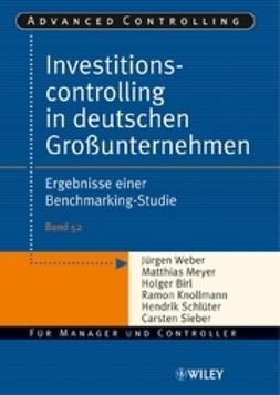 Weber, J?rgen - Investitionscontrolling in deutschen Grounternehmen: Ergebnisse einer Benchmarking-Studie, ebook