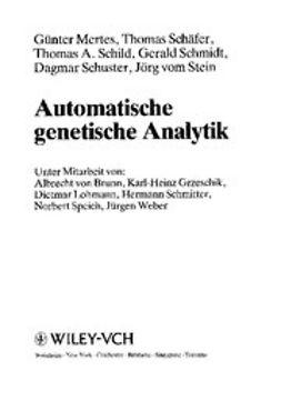 Stein, Jörg vom - Automatische genetische Analytik, ebook