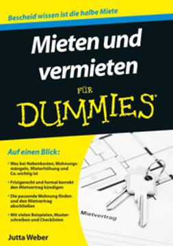 Weber, Jutta - Mieten und Vermieten fr Dummies, ebook