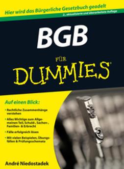 Niedostadek, André - BGB für Dummies, ebook