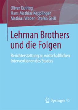 Quiring, Oliver - Lehman Brothers und die Folgen, ebook