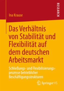 Krause, Ina - Das Verhältnis von Stabilität und Flexibilität auf dem deutschen Arbeitsmarkt, ebook