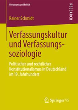 Schmidt, Rainer - Verfassungskultur und Verfassungssoziologie, ebook