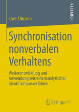 Altmann, Uwe - Synchronisation nonverbalen Verhaltens, ebook