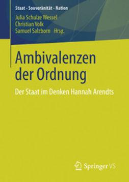 Wessel, Julia Schulze - Ambivalenzen der Ordnung, ebook