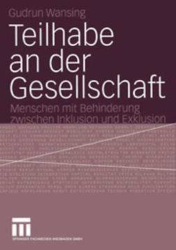 Wansing, Gudrun - Teilhabe an der Gesellschaft, ebook