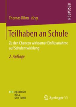 Rihm, Thomas - Teilhaben an Schule, ebook