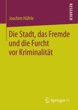 Häfele, Joachim - Die Stadt, das Fremde und die Furcht vor Kriminalität, ebook