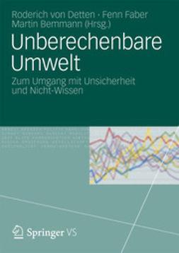 Detten, Roderich von - Unberechenbare Umwelt, ebook