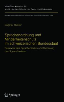 Richter, Dagmar - Sprachenordnung und Minderheitenschutz im schweizerischen Bundesstaat, ebook