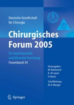 Bauer, H. - Chirurgisches Forum 2005, ebook