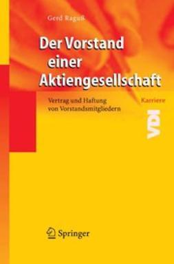 Raguß, Gerd - Der Vorstand einer Aktiengesellschaft, ebook