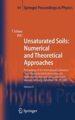 Schanz, Tom - Unsaturated Soils: Numerical and Theoretical Approaches, ebook