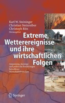 Ritz, Christoph - Extreme Wetterereignisse und ihre wirtschaftlichen Folgen, ebook