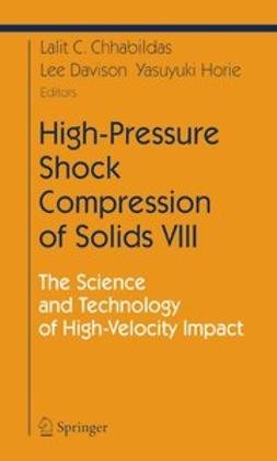 Chhabildas, Lalit C. - High-Pressure Shock Compression of Solids VIII, ebook