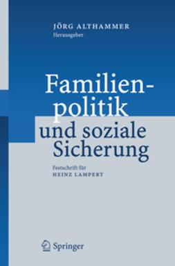 Althammer, Jörg - Familienpolitik und soziale Sicherung, ebook
