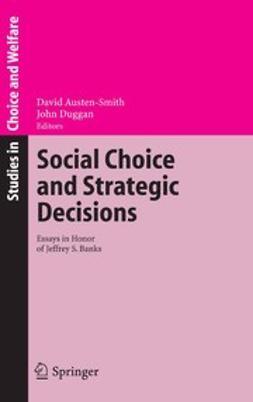 Austen-Smith, David - Social Choice and Strategic Decisions, e-kirja