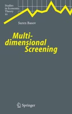 Basov, Suren - Multidimensional Screening, ebook