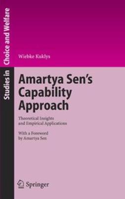 Kuklys, Wiebke - Amartya Sen's Capability Approach, e-kirja