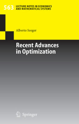 Seeger, Alberto - Recent Advances in Optimization, e-bok