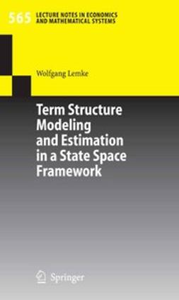 Bundesbank, Deutsche - Term Structure Modeling and Estimation in a State Space Framework, ebook