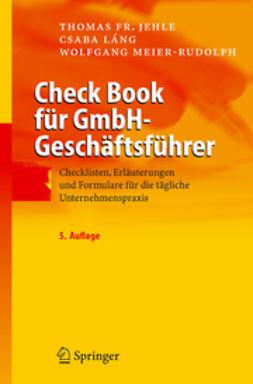 Jehle, Thomas Fr. - Check Book für GmbH-Geschäftsführer, ebook