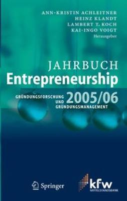 Achleitner, Ann-Kristin - Jahrbuch Entrepreneurship 2005/06, ebook