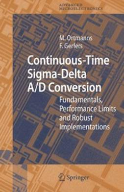 Gerfers, Friedel - Continuous-Time Sigma-Delta A/D Conversion, ebook