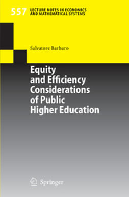 Barbaro, Salvatore - Equity and Efficiency Considerations of Public Higher Education, ebook