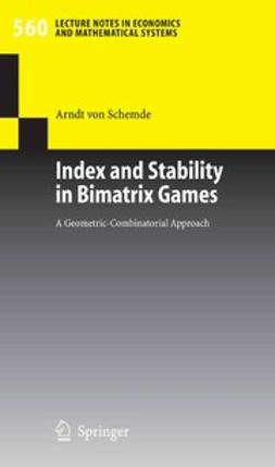 Schemde, Arndt - Index and Stability in Bimatrix Games, ebook