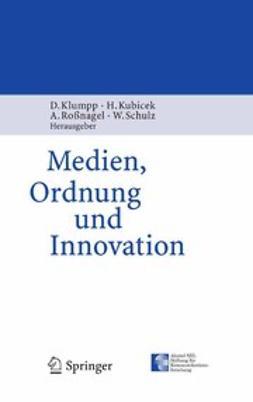 Klumpp, Dieter - Medien, Ordnung und Innovation, ebook
