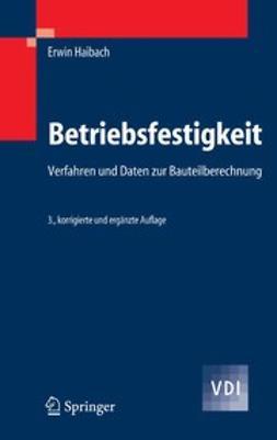 Haibach, Erwin - Betriebsfestigkeit, e-kirja