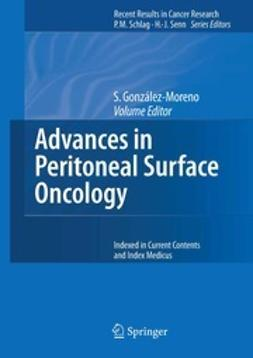 González-Moreno, Santiago - Advances in Peritoneal Surface Oncology, ebook