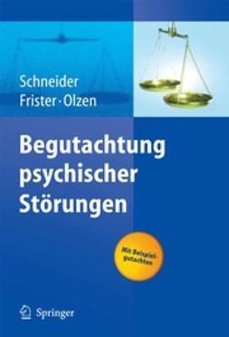Frister, Helmut - Begutachtung psychischer Störungen, e-kirja