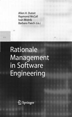 Dutoit, Allen H. - Rationale Management in Software Engineering, ebook