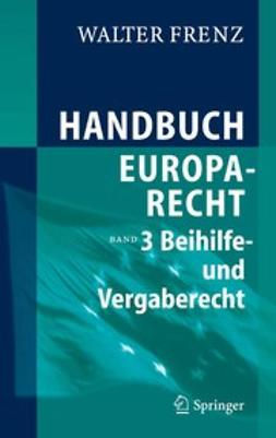 Frenz, Walter - Handbuch Europarecht, e-kirja