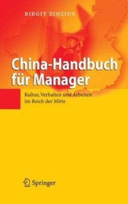 Zinzius, Birgit - China-Handbuch für Manager, e-bok